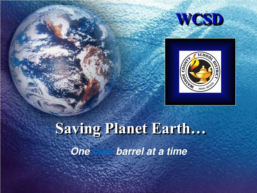 saving planet earth l.