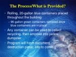 the process what is provided