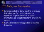 u s policy on prostitution