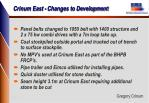 crinum east changes to development