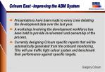 crinum east improving the abm system10