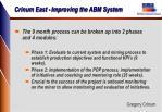 crinum east improving the abm system6