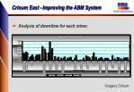 crinum east improving the abm system8