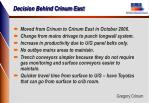 decision behind crinum east