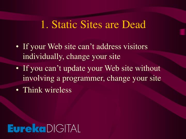 1. Static Sites are Dead