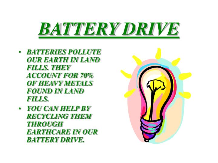 Battery drive