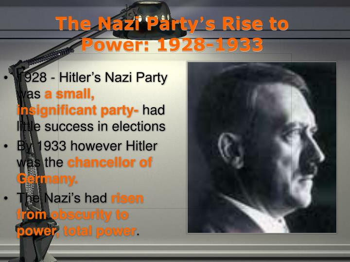 the nazi party s rise to power 1928 1933 n.