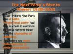 the nazi party s rise to power 1928 1933