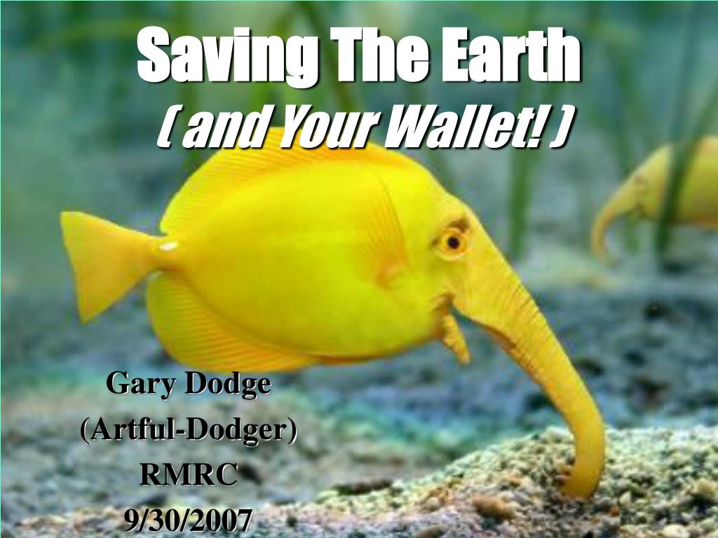 saving the earth and your wallet