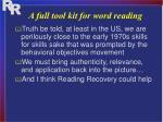 a full tool kit for word reading1