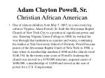 adam clayton powell sr christian african american