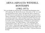 arna arnaud wendell bontemps 1902 1973
