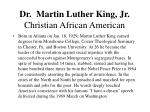dr martin luther king jr christian african american