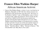frances ellen watkins harper african american activist