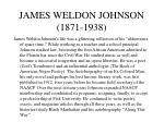james weldon johnson 1871 1938