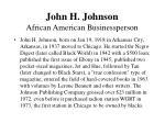 john h johnson african american businessperson