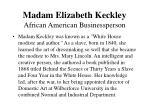madam elizabeth keckley african american businessperson