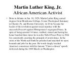 martin luther king jr african american activist