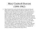 mary cardwell dawson 1894 1962