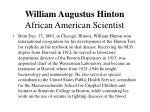 william augustus hinton african american scientist