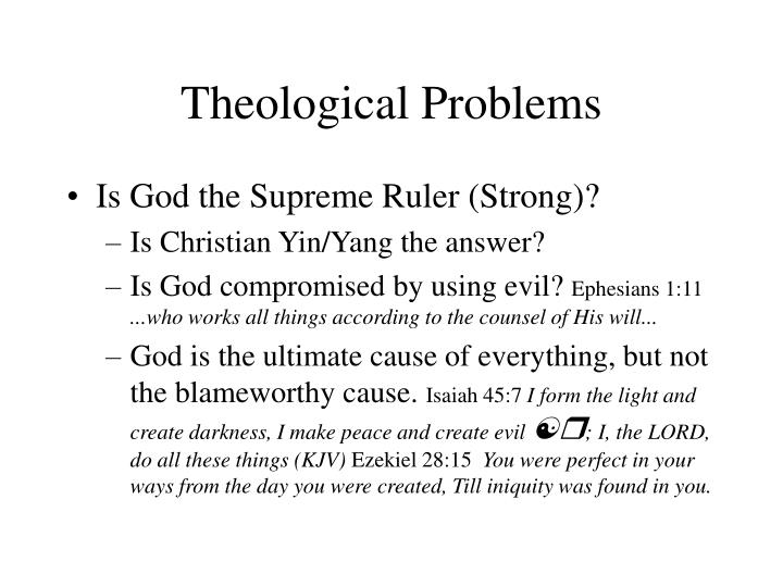 theological problems n.