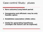 case control study pluses