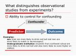 what distinguishes observational studies from experiments
