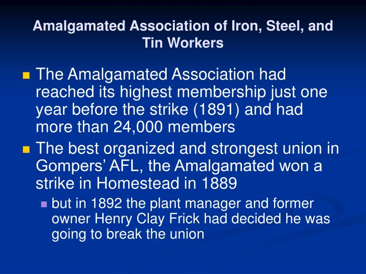 Amalgamated Association of Iron, Steel, and Tin Workers