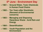 5 th june environment day