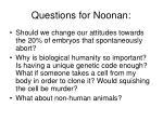 questions for noonan