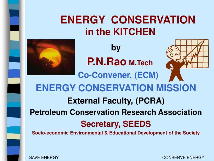 Energy conservation in the kitchen