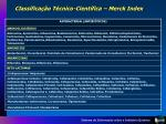 classifica o t cnico cient fica merck index