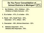 do you favor consolidation of school districts in michigan