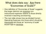 what does data say are there economies of scale