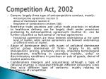 competition act 20021