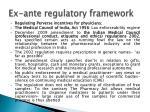 ex ante regulatory framework