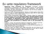 ex ante regulatory framework1