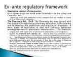 ex ante regulatory framework2