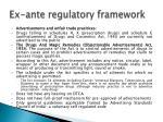 ex ante regulatory framework3