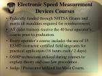 electronic speed measurement devices courses