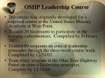 oshp leadership course