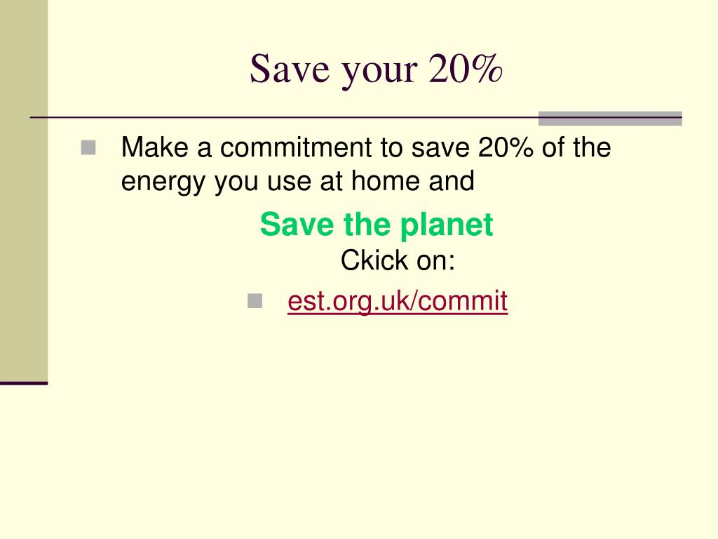 Save your 20%