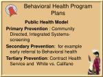 behavioral health program plans1