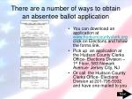there are a number of ways to obtain an absentee ballot application