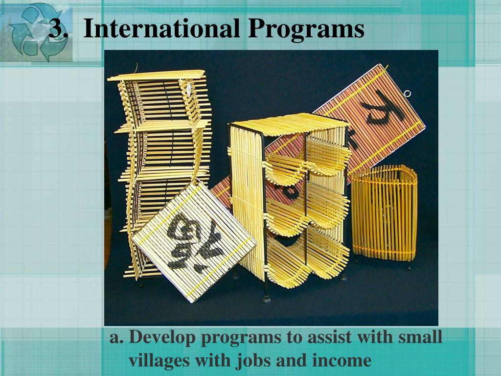 3.  International Programs