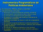 instrumentos program ticos de pol ticas ambientales