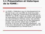 i 1 pr sentation et historique de la fdmr