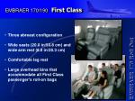 embraer 170 190 first class