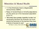 minorities mental health