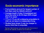 socio economic importance